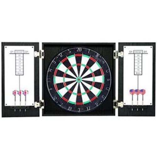 Hathaway Hathaway Winchester Dartboard and Cabinet Set, Black