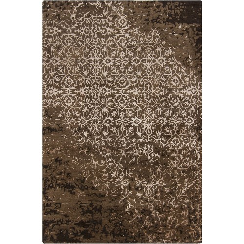 Rupec Collection Wool and Viscose Area Rug in Cream and Brown design by Chandra rugs - 5' x 7' 6\