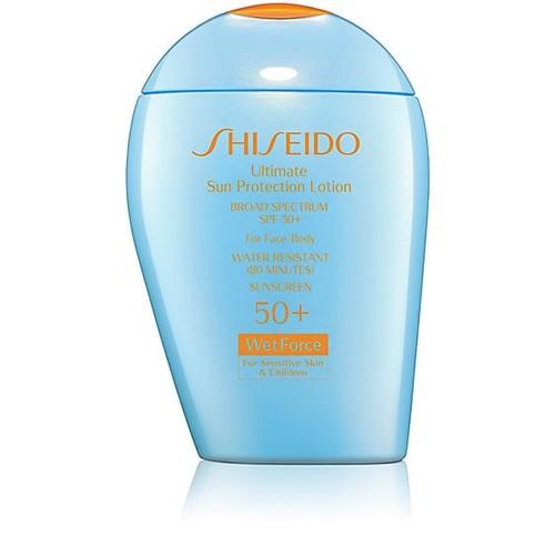 Shiseido Ultimate Sun Protection Lotion WetForce for Sensitive Skin & Children Broad Spectrum SPF 50+