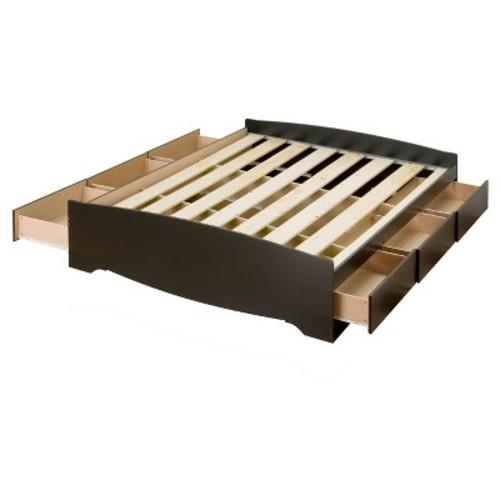 6 drawer Platform Storage Bed - Full / Double - Prepac - Black - Prepac