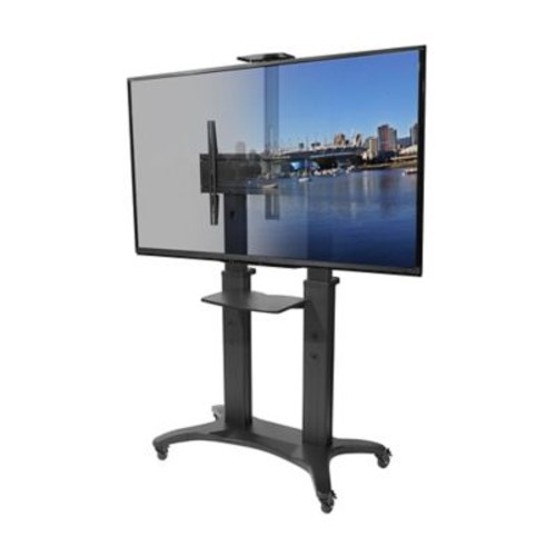 Kanto MTMA80PL Mobile TV Mount with Adjustable Shelf for 55-inch to 80-inch TVs