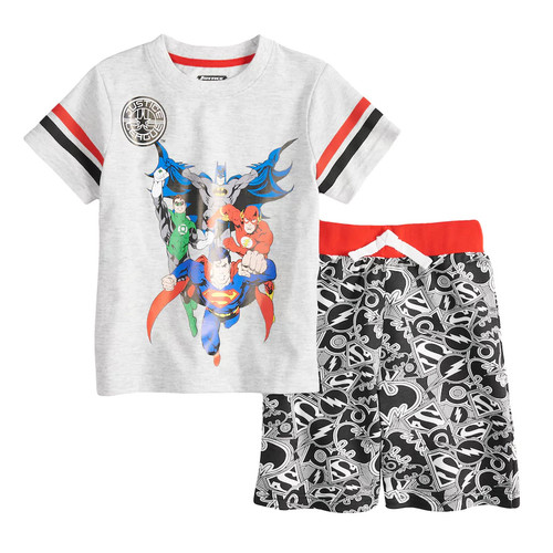 Baby Boy Justice League Top & Shorts Set