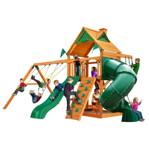 Gorilla Playsets Mountaineer with Amber Posts Cedar Playset
