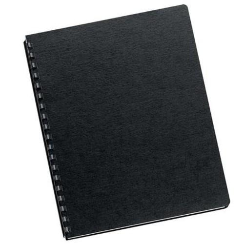 Fellowes Black Linen Oversize Binding Covers, 200 Pack 52115