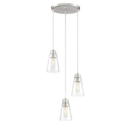Designers Fountain Echo 3-Light Satin Platinum Mini Pendant