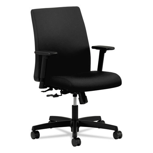 Hon Ignition Series Low-Back Task Chair, Black Fabric Upholstery (HONIT105CU10)
