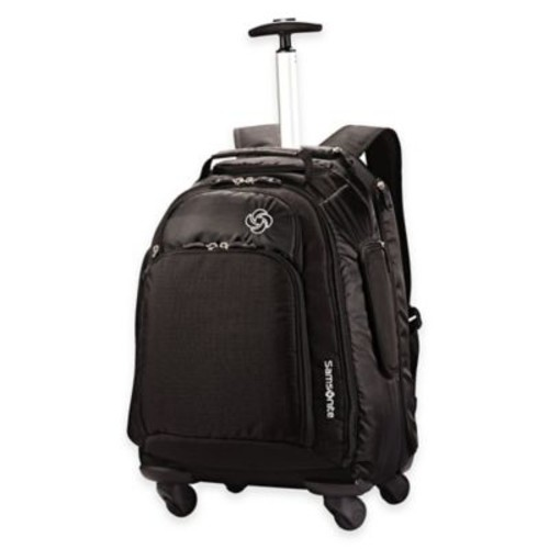 Samsonite 19-Inch MVS Carry On Spinner Backpack in Black