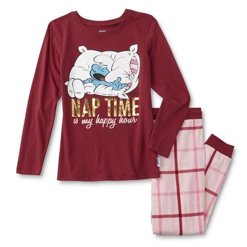 Licensed The Smurfs Women's Plus Pajama Shirt & Pants