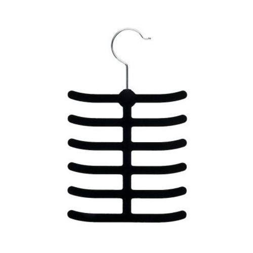 Honey-Can-Do 20-Pack Velvet Touch Tie & Belt Hanger - Black