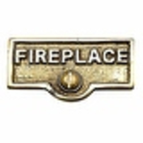 Switch Plate Tags FIREPLACE Name Signs Labels Brass | Renovator's Supply