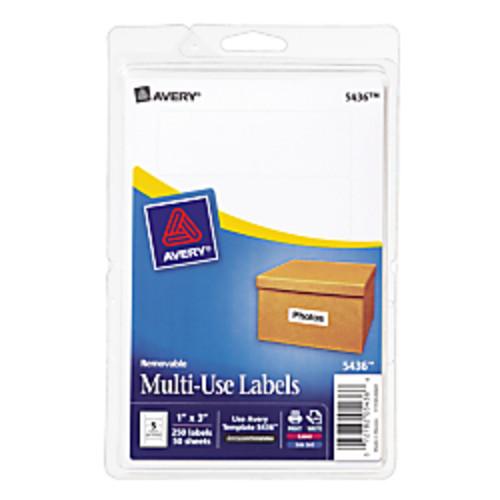 Avery Removable Inkjet/Laser Multipurpose Labels, 1
