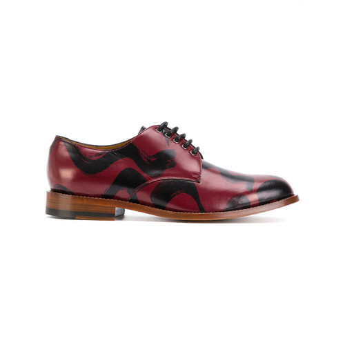 brush stroke Derby shoes