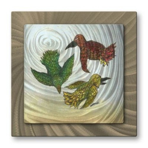 All My Walls 'Three Little Birds' by Steven Weber Painting Print Plaque