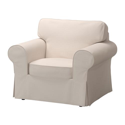 EKTORP Chair cover, Nordvalla dark beige [cover : Nordvalla dark beige]
