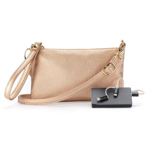 Phone Charging Crossbody Bag
