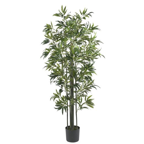 Nearly Natural 6 ft. Bamboo Silk Tree with Green Trunks