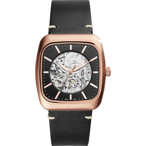 Fossil Rutherford Automatic Three-Hand Leather Watch