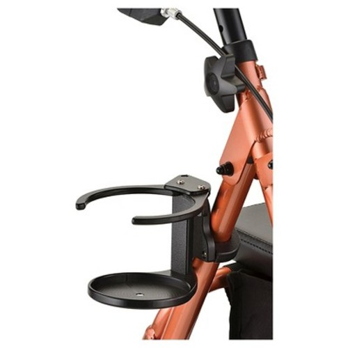 Nova Cup Holder For Walker and Rollator - Black