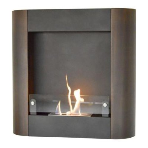 Nu-Flame 32.5 in. W Focolare Muro Noce Wall-Mounted Fireplace in Black