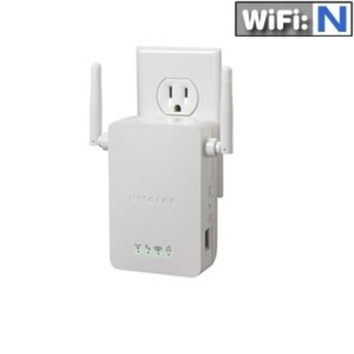 Netgear WN3000RP Universal WIFI Range Extender - 2.4 GHz, WPA-PSK, WPA2-PSK, WEP (Refurbished)