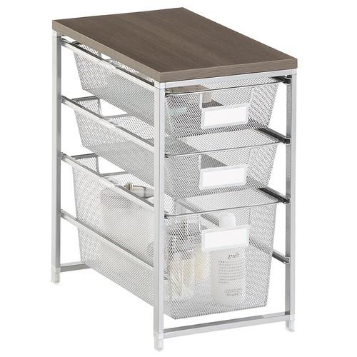 Platinum Cabinet-Sized elfa Mesh Bath Storage