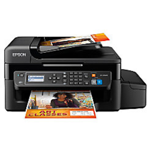 Epson WorkForce ET-4500 EcoTank Supertank Wireless Color Inkjet All-In-One Printer, Scanner, Copier And Fax