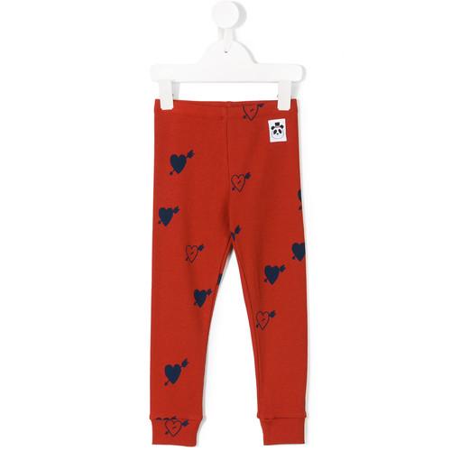 hearts print leggings