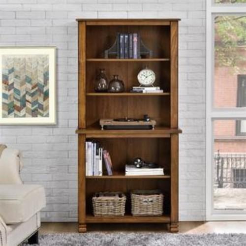 Ameriwood Home Altra San Antonio 5 Shelf Bookcase in Tuscany Oak