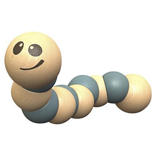 BeginAgain Toys Earthworm Wooden Toy - Skill Learning: Grasping, Senses, Fine Motor
