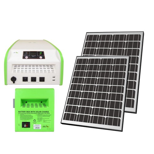 Nature Power 1,800-Watt Indoor/Outdoor Portable Off-Grid Solar Generator Kit with Auxiliary Battery Box