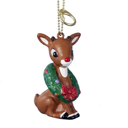 Rudolph Clip Christmas Keychain