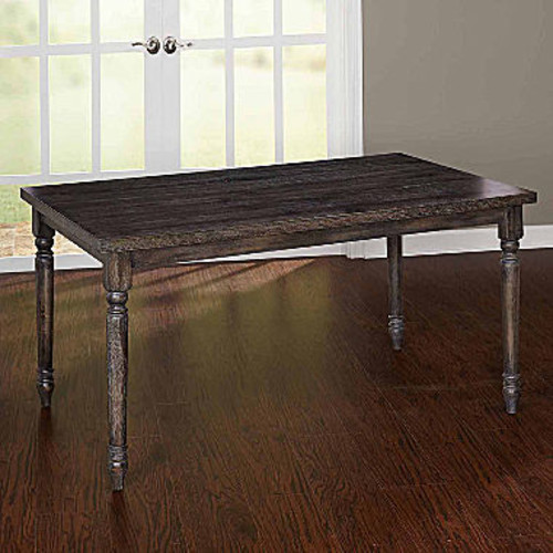Burntwood Wood-Top Dining Table