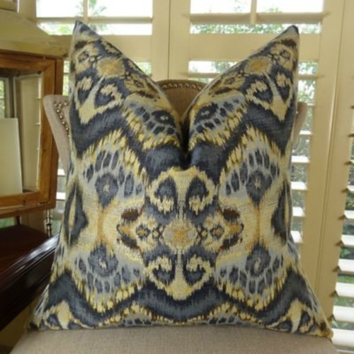 Plutus Brands Rhythm Waves Double Sided Throw Pillow; 24'' H x 24'' W