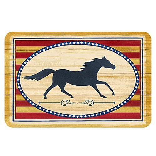 The Softer Side by Weather Guard 18-Inch x 27-Inch Americana Horse Kitchen Mat
