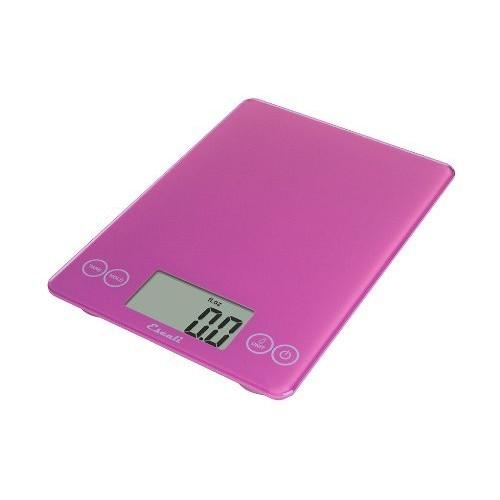 Escali 157PP Arti Glass Digital Kitchen Scale 15Lb/7Kg, Poppin' Pink [Poppin Pink]