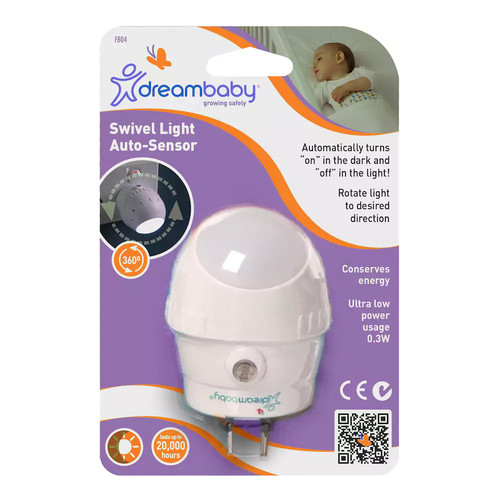 Dreambaby White Swivel Light, Auto Sensor