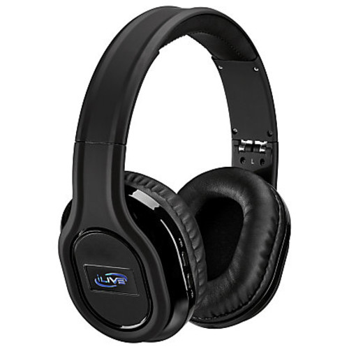 iLive Platinum Active Noise-Canceling On-Ear Headphones, Black, IAHP87B