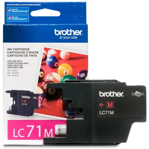 Brother Magenta LC71M Ink Cartridge (300 Yield) LC71M