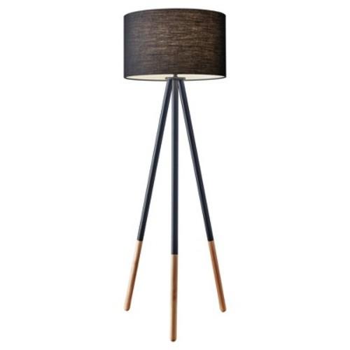 Adesso Louise Floor Lamp - Black