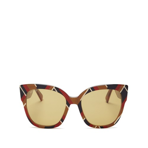 GUCCI Geometric Cat Eye Sunglasses, 55Mm