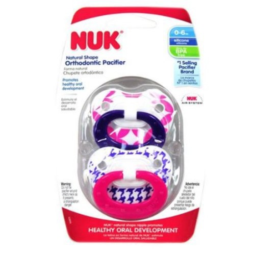 NUK Orthodontic Pacifier, 0-6 Months, 1 ea (Pack of 3)