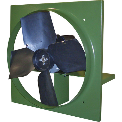 Canarm Direct Drive Wall Exhaust Fan with Cabinet, Back Guard and Shutter  24in., 7,240 CFM, Polypropylene Blades,