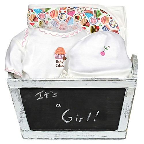 Baby Cakes 4-Piece Gift Set for Baby Girls