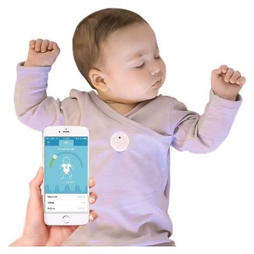 MonBaby Smart Button Baby Monitor - White