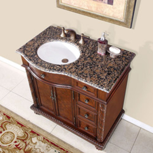 Eviva Beach 39-inch Wenge (Dark Brown) Modern Bathroom Vanity Set with Integrated White Acrylic Sink