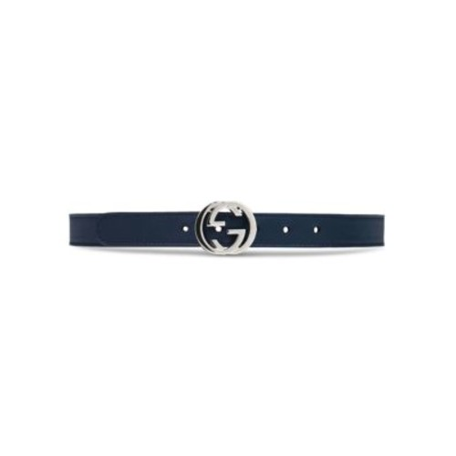 GUCCI Kid'S Leather Belt With Interlocking G Buckle