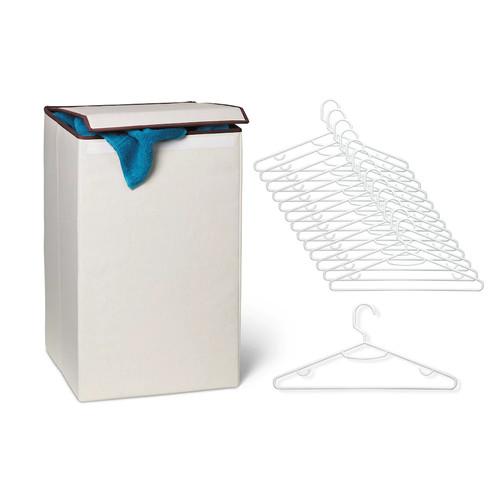 Honey-Can-Do Laundry Hamper & Hanger Set