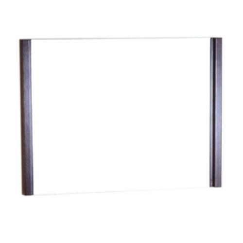 Bellaterra Home 35.5-in x 25.5-in Wenge Rectangular Framed Bathroom Mirror
