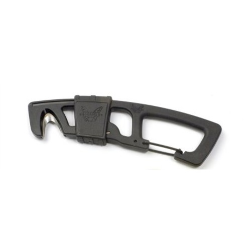 Benchmade Black Strap Cutter with Carabineer