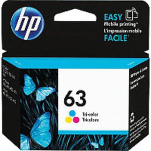 HP Hewlett Packard F6U61AN Genuine OEM HP63 Tri-Color Original Ink Toner Cartridge